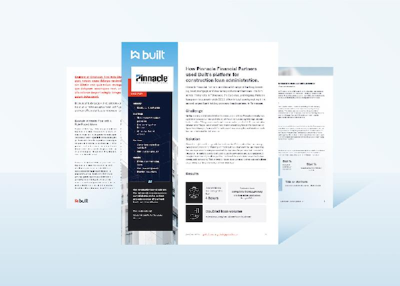 Pinnacle Bank Case Study Mockup