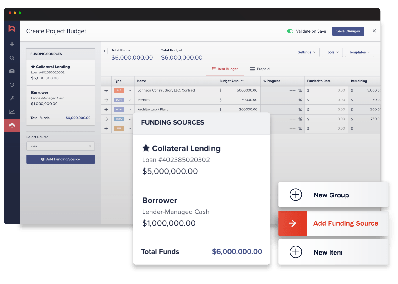 Built lender platform screenshot