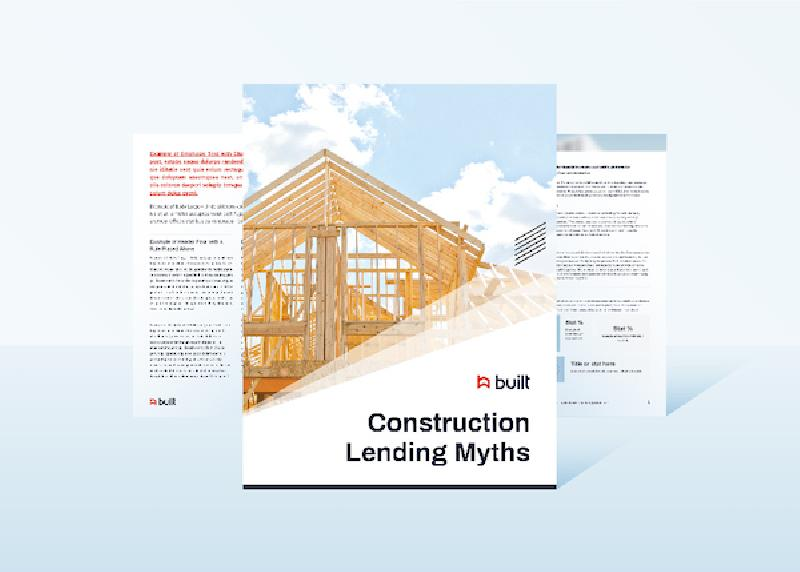 Construction Lending Myths White Paper