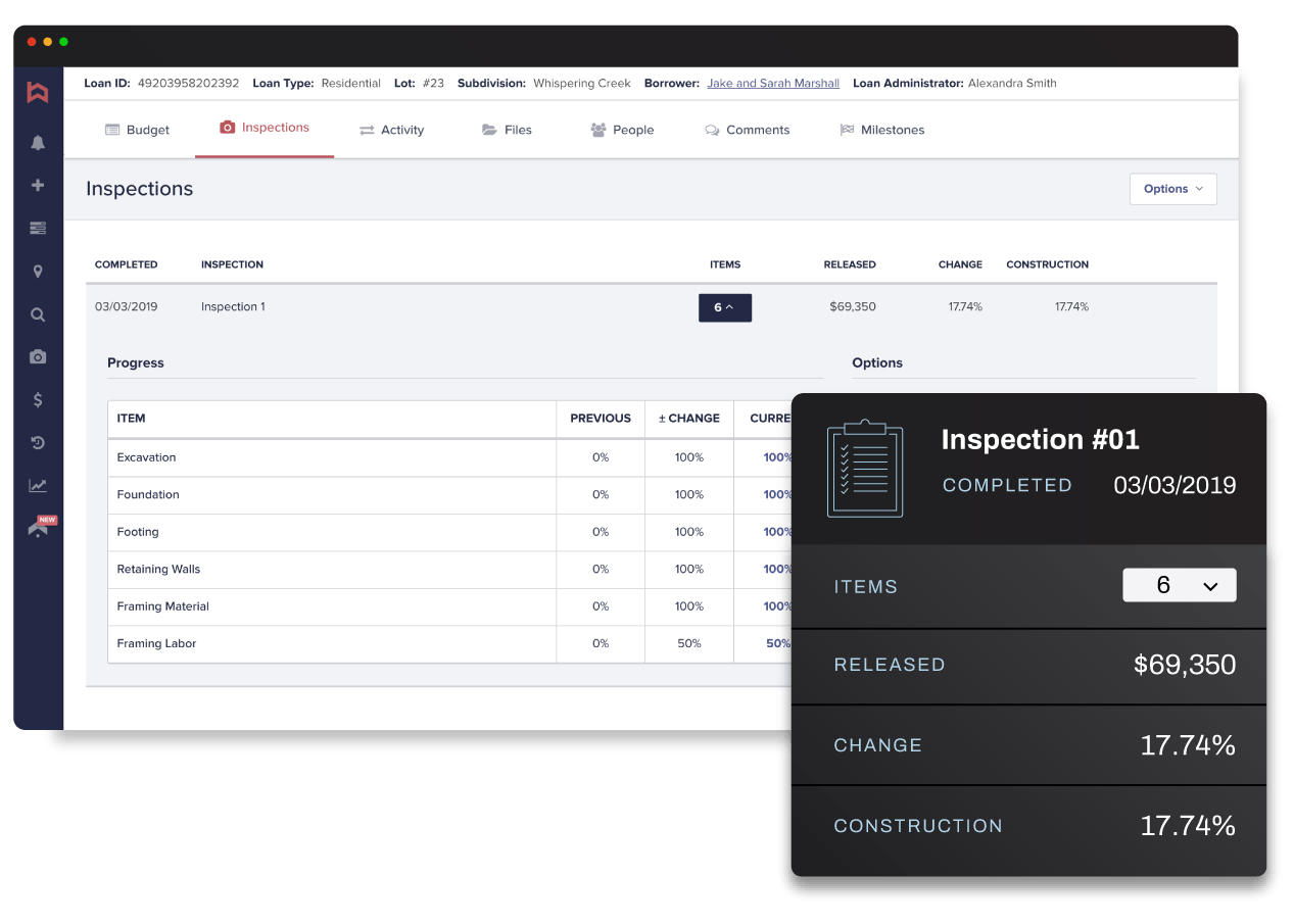 Built inspector report screenshot
