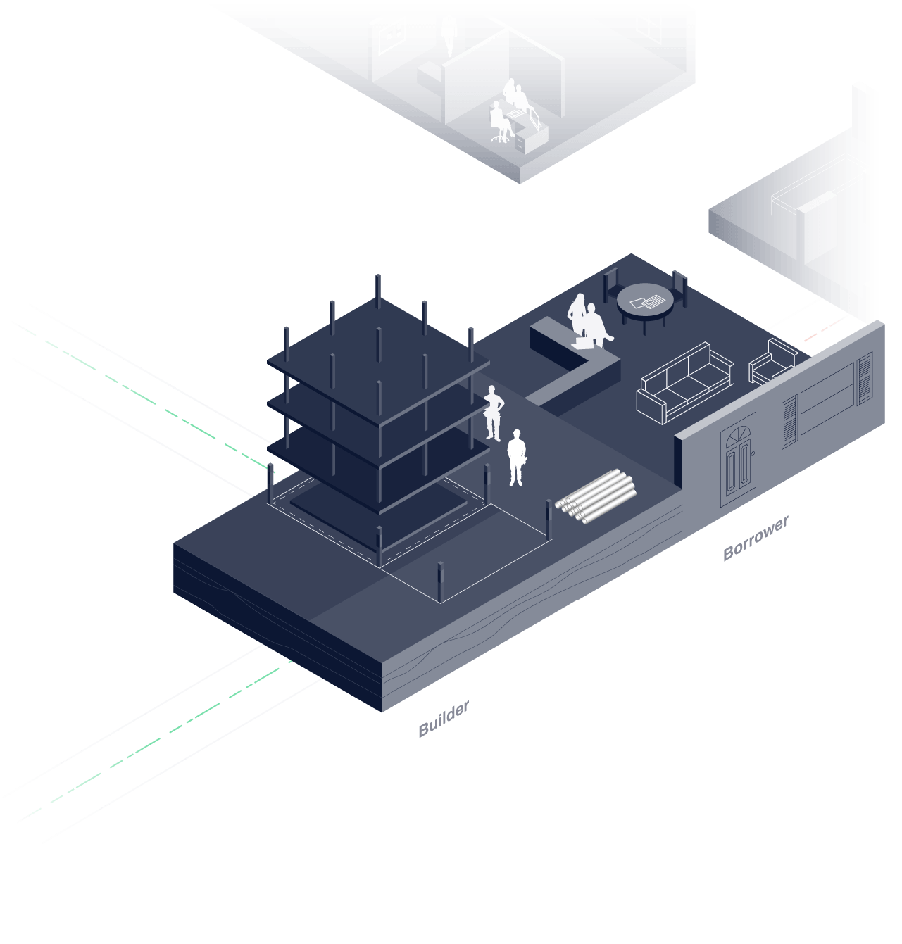 Construction platform graphic